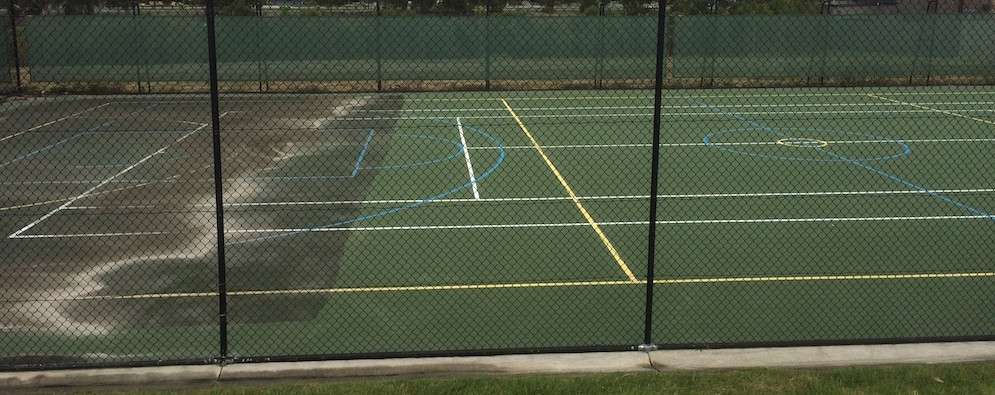 During Tennis Court Cleaning Melbourne - High Pressure Cleaning Services Melbourne