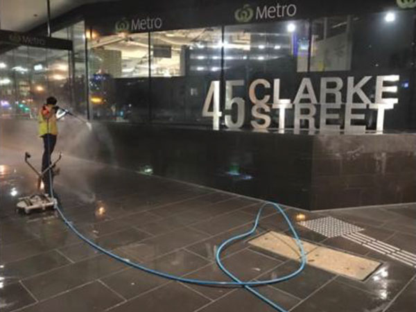 High Pressure Cleaning The Outside Of A Shopping Centre - Commercial High Pressure Cleaning Services