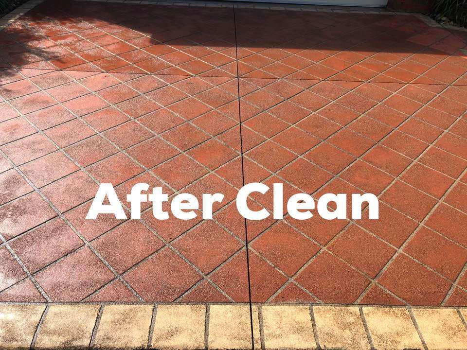 Sparkling Clean Driveway After A High Pressure Clean - Concrete Cleaning & Sealing Melbourne