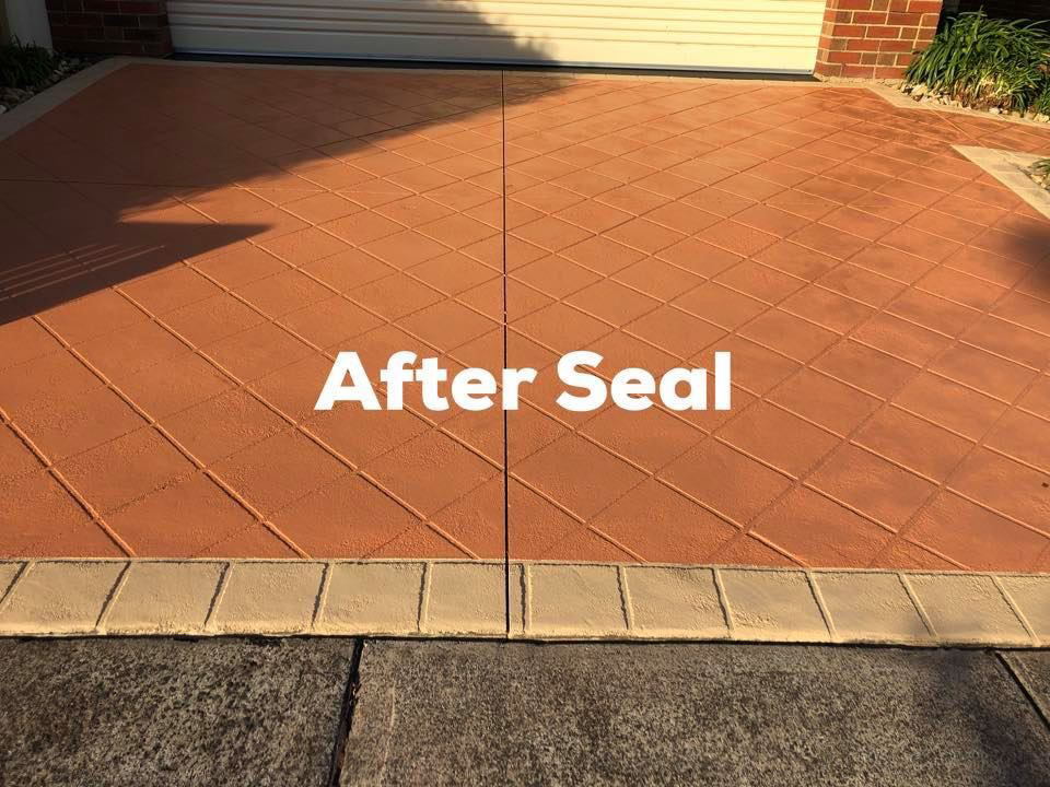 Beautiful Clean Driveway After A High Pressure Clean & Seal - Concrete Cleaning & Sealing Melbourne