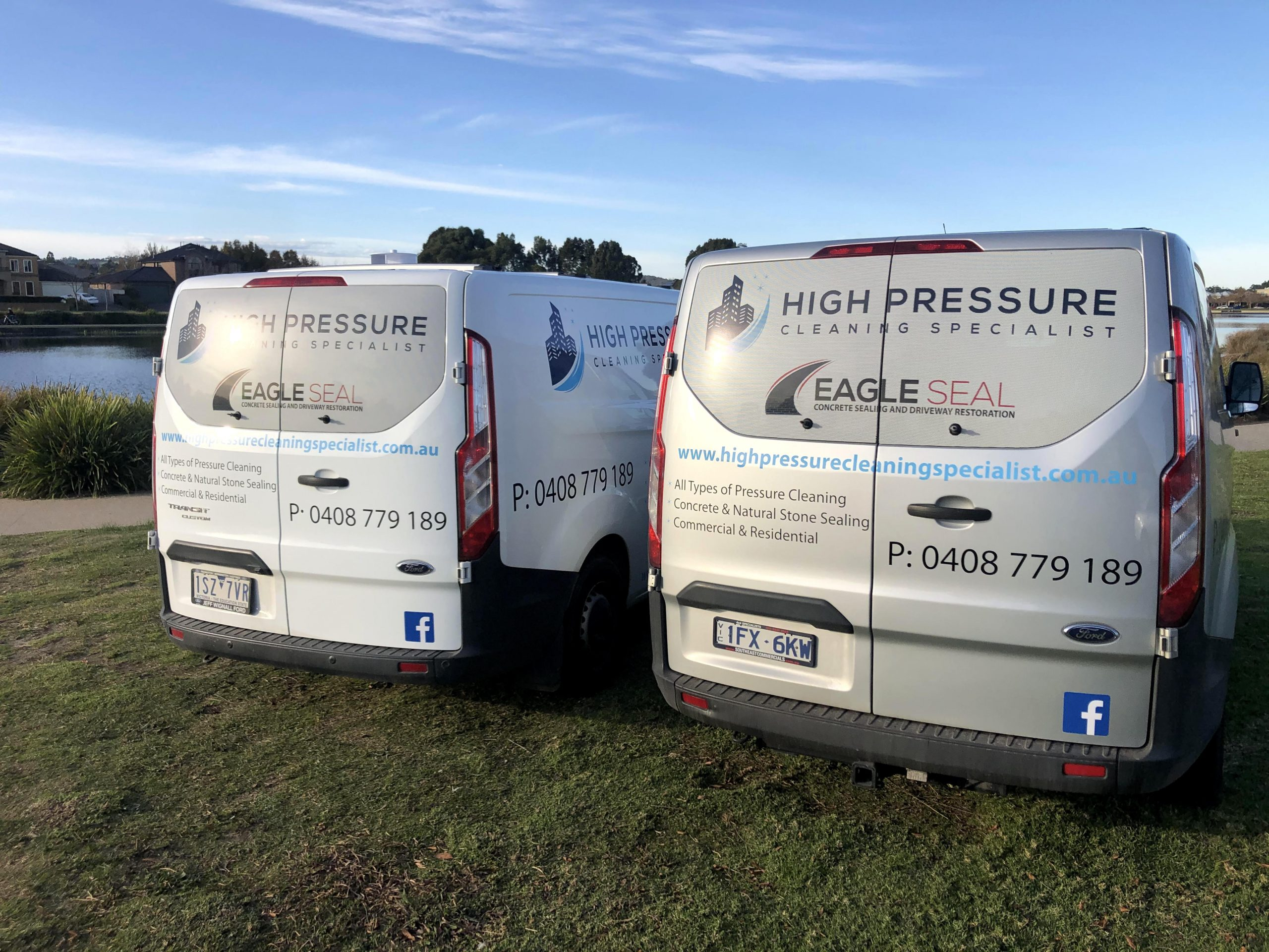 Our High Pressure Cleaning Specialist Service Van In Melbourne